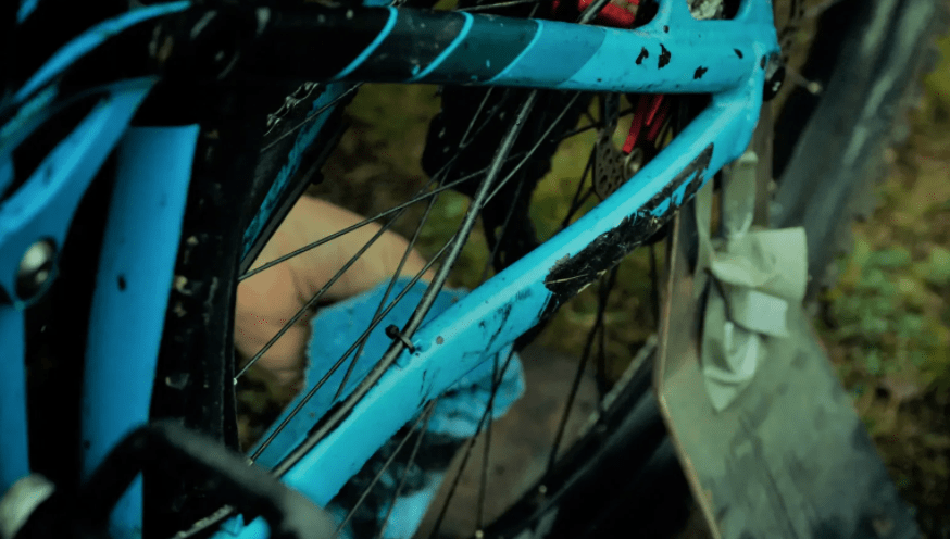 How to get bike frease ot of clothes